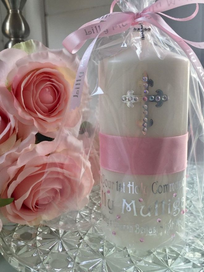 Girls 1st Holy Communion Candle